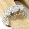 925 Sterling Silver Engagement & Wedding CZ Ring-9