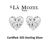 1 Carat Heart-Shaped Stud Earrings