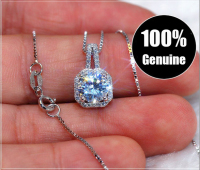Simple Ladies zircon Necklace style Italy
