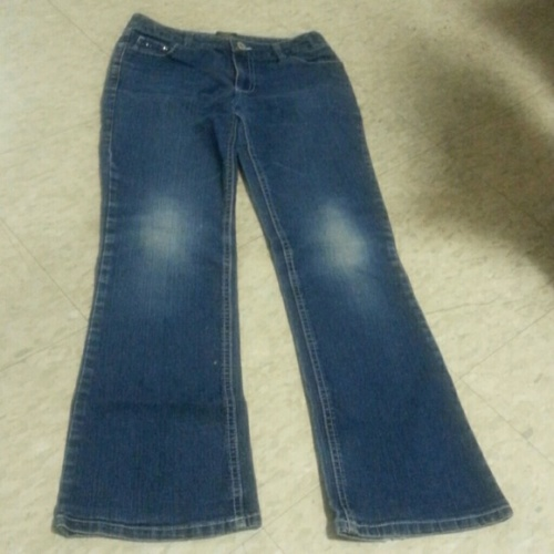 Young miss blue jeans by faded Glory