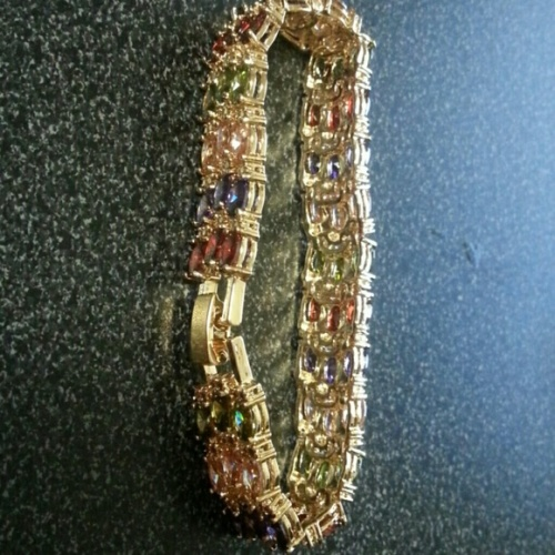 Triple Gemstone Bracelet