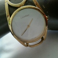 Goldtone Designer Calvin Klein watch