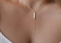 Metal Chain Bar Circle Lariat Triangle Punk Sexy Necklace