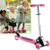 2016 New Trends in DE New Cute Kids Adjustable Folding Alloy Four Wheels Foot Scooter