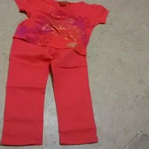 Apple Bottoms Designer Tee,  Baby Phat pants
