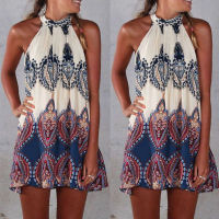 Halter-Neck-Sleeveless-Mini-Dress