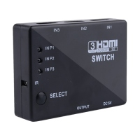 3 Port HDMI Switch Switch Splitter 1080P For PS3 DVD HDTV +IR Remote control