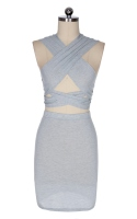 New Stylish Lady Women's Fashion Bandage Sleeveless V-Neck Sexy Top and Skirt