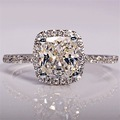 Luxury 925 Sterling Silver hand inlaid 2ct AAA zircon ring