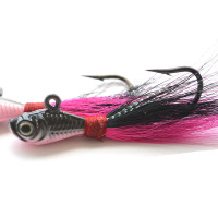 Big game fishing lures 3d Eyes Bucktail jig for Saltwater Fishing Lure multi-color