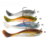 Multi-color shad with hook on back without back fin