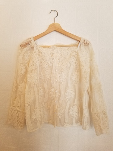 Lace button lace BL