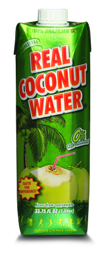 Real Coco - Premium 100% Natural Coconut Water - 1ltr Tetra - 12 count