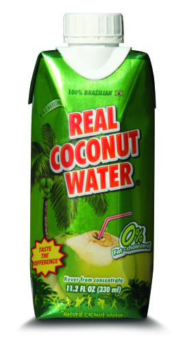 Real Coco - Premium 100% All Natural Coconut Water - 330ml Tetra - 12 count
