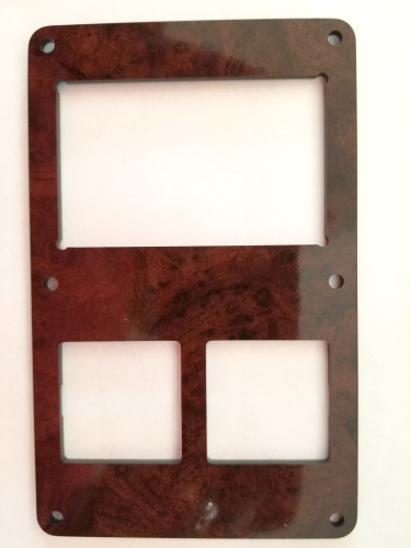 DASH SWITCH BEZEL, MIRROR AND 3 SWITCH PANEL,  DRIVERS ARM REST BURL WOOD (106724)