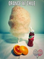 Orange With Chile Cotton Candy