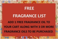FREE FRAGRANCE LIST- 1 oz
