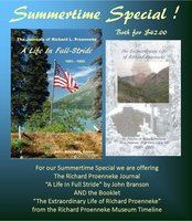 """Summertime Special - The Richard Proenneke Journal """"A Life In Full Stride"""" and Booklet """"The Extraordinary Life of Richard Proenneke."""