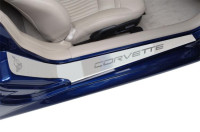 Corvette Doorsills Outer - Etched with C5 Corvette Brushed 1997-2004 C5 & Z06