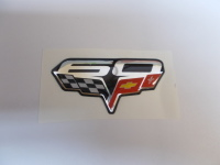 """Corvette 60th Anniversary 2 3/8"""" Domed Decal Emblem - Flag with 60th Topper"""