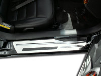 Corvette Doorsills Outer Polished with Chrome Ribs Stock 2Pc 2005-2007 C6+Z06