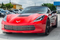 2014-2017 C7 Corvette Stingray - 12Pc Polished Front Grille Factory Overlay