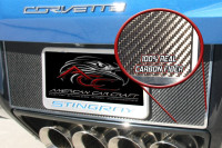 2014-2017 C7 Corvette Stingray - Tag Back Carbon/Fiberglass With Stainless Steel Trim