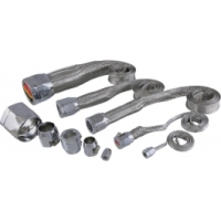 K&N Hose Cover Kit, Universal, Stainless Steel, With Chrome Clamps| 7498 Corvette 1953-2013