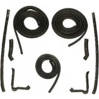 C2 1963-1967 Corvette Coupe Body Weatherstrip Kit