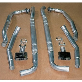 C3 Corvette Chambered Exhaust Kit, Stainless Steel, Small Block, 1968-1972-70Auto