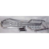 C2 Corvette Chambered Exhaust Kit, Small Block, Stainless Steel, With 2-1/2 Exhaust Manifold, 1964-1967