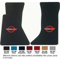 Lloyd Mats, Floor Mats With Embroidered C4 Logos | Corvette 1984-1990 86-90 Red