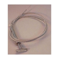 C1 Corvette Hood Release Cable, With Handle, 1958-1962