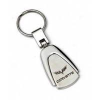 C6 Corvette Teardrop Key Chain With C6 Logo