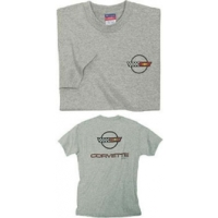 Corvette T-Shirt, C4 Logo, Gray