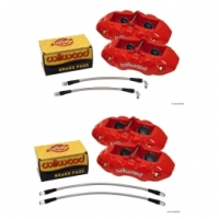 Corvette Caliper Set, Aluminum, Red, Wilwood, 1965-1982