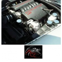 Corvette Factory Engine Cap Covers, For Cars With AutomaticTransmission, 2005-2013