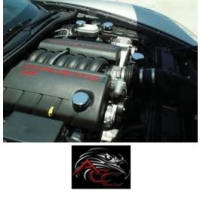 Corvette Factory Engine Cap Covers, With Manual Transmisson, 2005-2013