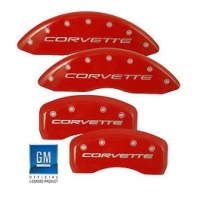 C5 Corvette MGP Red Brake Caliper Cover Set, 1997-2004