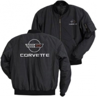 Corvette Jacket, Aviator, Black, With C4 Logo