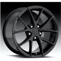"Corvette C6 Z06 Spyder Wheel, Gloss Black, 17"" X 8.5"", +56 Off Set, Front,1997-2004"