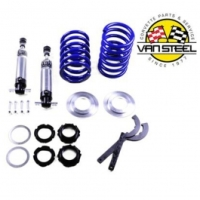 Corvette C3 Van Steel Coilover Shock Kit, Front, Small Block, Single Adjustable, 400 Lb. Spring| FSC-01-400 Corvette 1963-1982