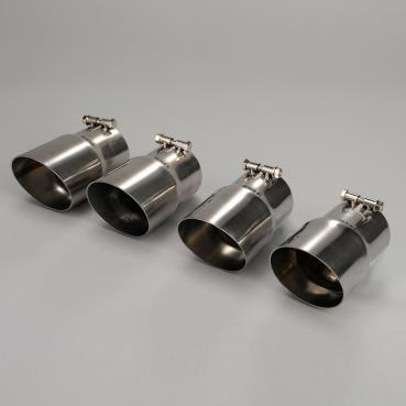 Corvette C4 Exhaust Tips,1985-1991 Angle Cut Stainless Steel Car Set