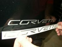 C6 Domed Raised Rear Bumper Letters 2005-2013