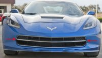 2014 C7 Corvette Stingray - Polished Front Grille Factory Trim Ring