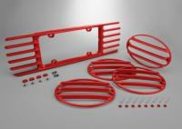 C5 Taillight & Rear License Plate Louver Package, 1997-2004 Body Color