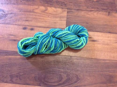 Turquoise & Fluro Green Variegated