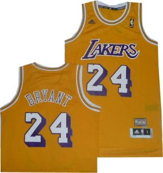 reputable site 2ec59 6a708 Kobe Bryant Lakers Adidas Hardwood Classic Jersey L