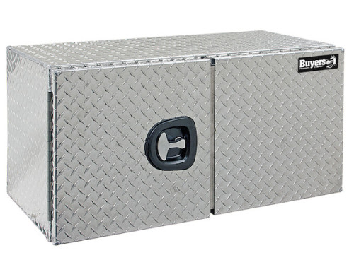 24x24x48 Inch Diamond Tread Underbody Truck Box With Barn Door