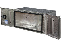 24x24x60 Inch Diamond Tread Underbody Truck Box With Barn Door
